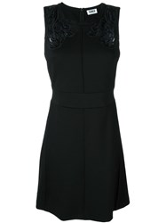 Sonia By Sonia Rykiel Embroidered Lace Panel Detail Dress Black