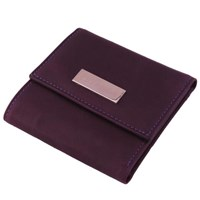 Estados Luxury Leather Ladies Mini Wallet Deep Purple And Pink