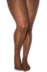 Plus Size Women's Nubian Skin 'Curve' 15 Denier Tights Caramel
