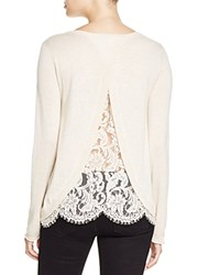 Joie Marianna Lace Back Sweater Bloomingdale's Exclusive Heather Antique White
