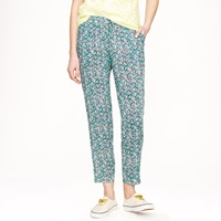 J.Crew Drapey Beach Pant In Leaf Print