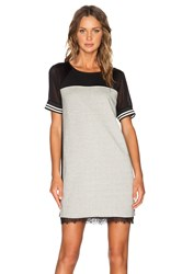 Maison Scotch Baseball Dress Black