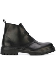 Diesel Black Gold Track Sole Boots Black