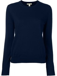 Burberry Brit Round Neck Knit Sweater Blue