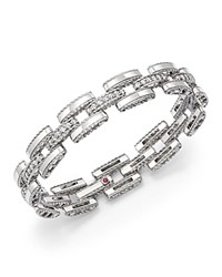 Roberto Coin 18K White Gold Retro Diamond Link Bracelet
