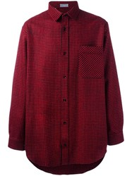 Christian Dior Homme Checked Shirt Red