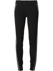 Gareth Pugh Striped Sides Leggings Black