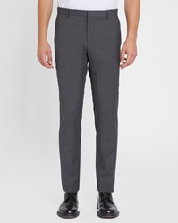 Calvin Klein Grey Wool Slim Fit Trousers