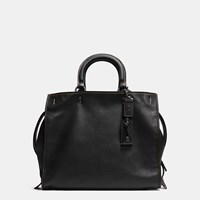 Coach Rogue Bag 36 In Glovetanned Pebble Leather Black Copper Black