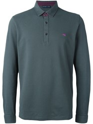 Etro Long Sleeve Polo Shirt Grey