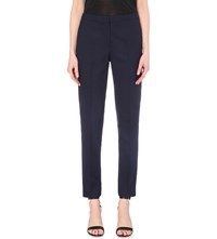 Reiss Delo Slim Fit Tapered Wool Blend Trousers Night Navy