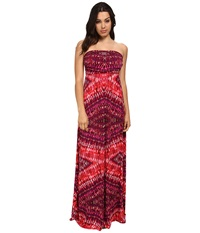 Gabriella Rocha Sleek Hally Dress Pink Purple Print Women's Dress Red