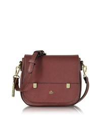 Roccobarocco Rb Grainy Eco Leather Crossbody Bag Burgundy