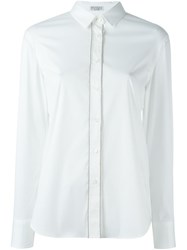 Brunello Cucinelli Embellished Placket Shirt White