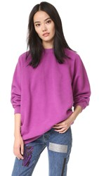 Aries Open Back Sweatshirt Purple