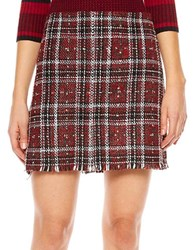 Sanctuary Plaid Blanket Skirt Red Plaid