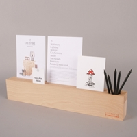 L'atelier D'exercices Wood Block Card Holder