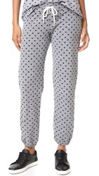 Monrow Polka Hearts Vintage Sweatpants Dark Heather