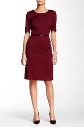 Hugo Boss Davisa Wool Blend Dress Red