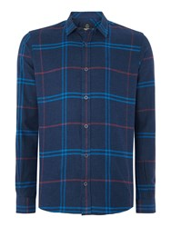 Duck And Cover Empire Long Sleeve Check Shirt Dark Navy