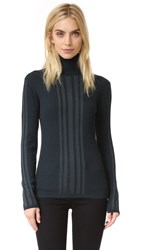 Dkny Ribbed Turtleneck Pullover Vetiver