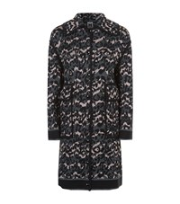 M Missoni Jacquard Leopard Knitted Coat Female Black