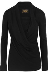 Vivienne Westwood Anglomania Laeticia Draped Stretch Jersey Top Black