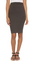 Enza Costa Tube Skirt Black Olive