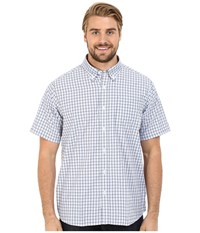 Mountain Khakis Spalding Gingham Short Sleeve Shirt Morning Sky Midnight Blue Men's Clothing