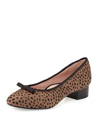 Freed Calf Hair Low Heel Pump Brown Black Taryn Rose