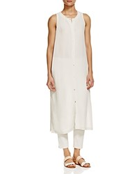Eileen Fisher Button Down Silk Tunic Bone