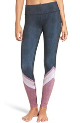 Alo Yoga Women's 'Airbrushed' Glossy Leggings Tree Lace Black