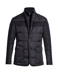 Moncler Ardenne Quilted Nylon Coat Navy