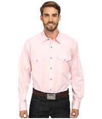Roper Solid Poplin L S Shirt Pink Men's Long Sleeve Button Up
