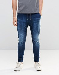 Dead Vintage Jogger Jeans With Two Zips And One Pockets Blue