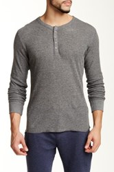 Bottoms Out Thermal Henley Tee Gray