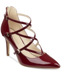 Marc Fisher Danger Strappy Pumps Women's Shoes Fresh Red