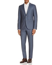 Hugo Chambray Sharkskin Slim Fit Suit Blue
