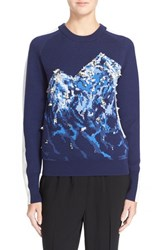 Women's 3.1 Phillip Lim 'Snow Cap' Embellished Crewneck Sweater Solstice