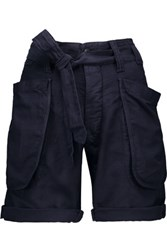 Nlst Tie Waist Cotton Blend Shorts Midnight Blue