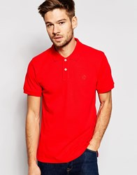 Esprit Slim Fit Short Sleeve Pique Polo Shirt Red