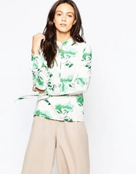 Minimum Lican Printed Shirt Flash Green