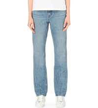 Helmut Lang Boyfriend Tapered Mid Rise Jeans Light Blue