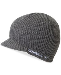 O'neill Men's Signal Brimmed Embroidered Logo Beanie Grey