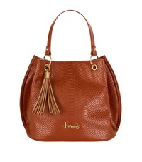 Harrods Ash Embossed Bucket Bag Unisex