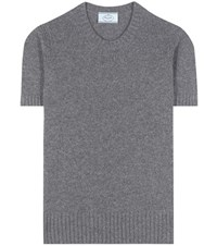Prada Knitted Cashmere Top Grey
