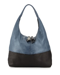 Canotta Woven Cervo Hobo Bag Navy Bicolor Henry Beguelin