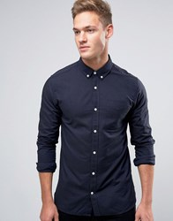 Jack And Jones Premium Long Sleeve Oxford Shirt Navy Blazer