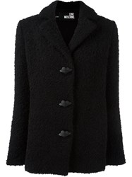 Love Moschino Boucle Buttoned Jacket Black