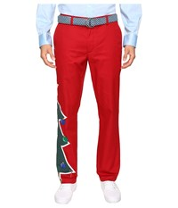 Vineyard Vines Christmas Tree Breaker Pants Vermilion Men's Casual Pants Red